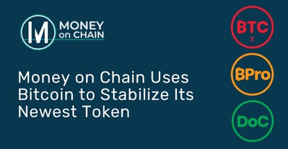 Money On Chain Introduces First Stablecoin Stabilized By Bitcoin