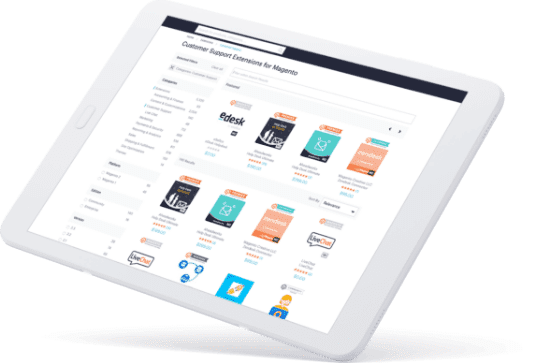 Magento Marketplace on Tablet