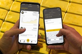 Screenshots of the GoldPass app