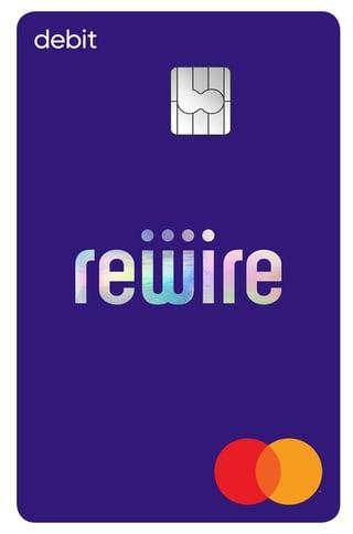 Rewire debit card graphic