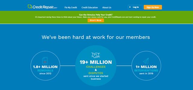 Screenshot of the CreditRepair.com Website