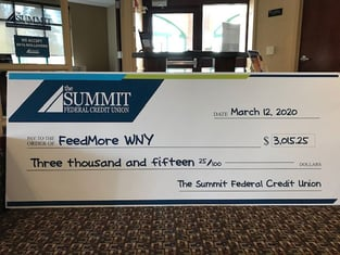 The Summit Federal Credit Union Donation Check