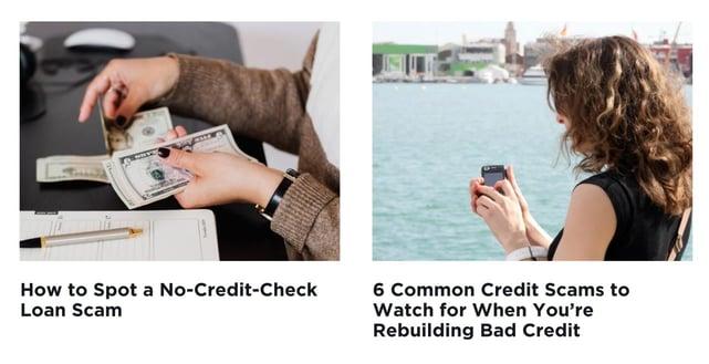 Screenshot from Scam Detector website