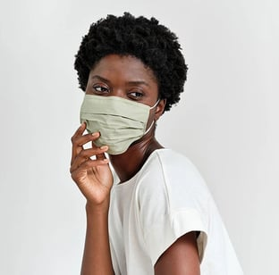 Model Wearing a Caraa Face Mask