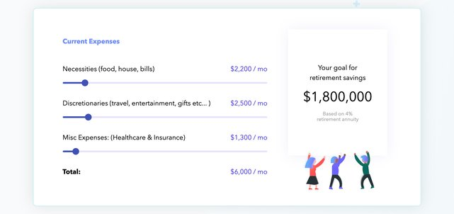 Screenshot from the Investment Calculator website