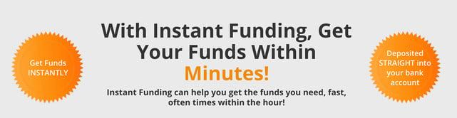 Screenshot of Instant Funding