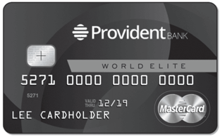 Provident Bank World Elite Credit Card