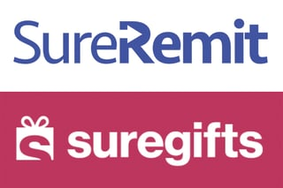 SureRemit and SureGifts logos