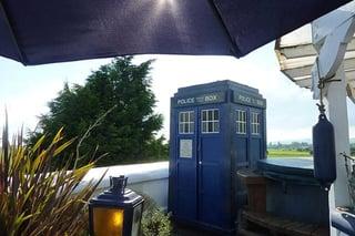 Photo of TARDIS at the West Usk Lighthouse