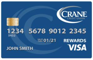 Crane Credit Union Visa Rewards Card