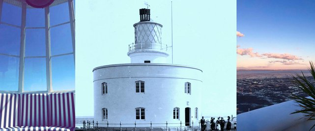 Collage of West Usk Lighthouse photos