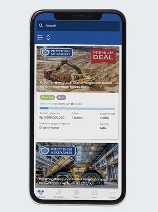 Screenshot of the Akseleran app on a mobile device