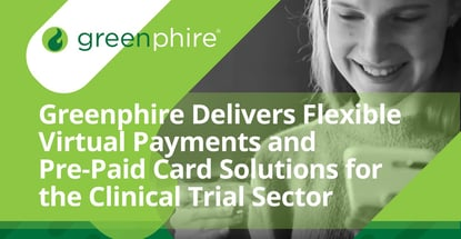 Greenphire Offers Virtual And Pre Paid Card Solutions For Clinical Trials
