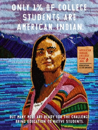 American Indian College Fund poster