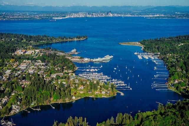 Aerial photo of Bainbridge Island