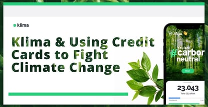 Klima And Using Credit Cards To Fight Climate Change