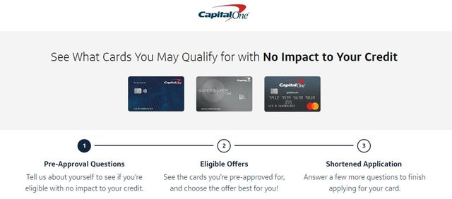 Capital One Preapproval Form