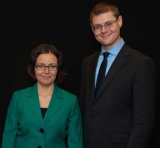 Photo of DAE COO Agnes Vishnevkin and CEO Dr. Gleb Tsipursky