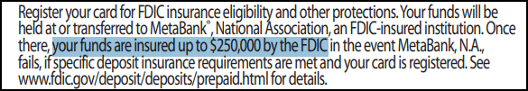 NetSpend FDIC Disclaimer