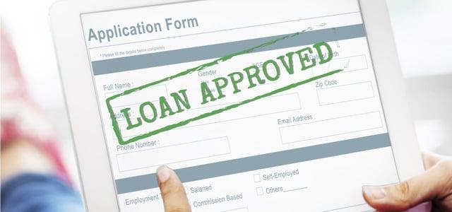 Loan Application on a Tablet