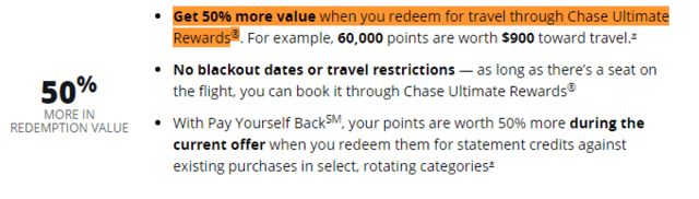 Screenshot of Sapphire Reserve Terms