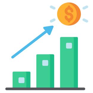 Increasing Savings Graphic
