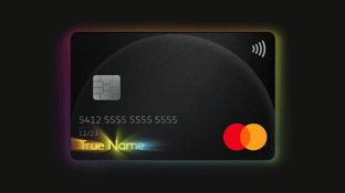 Mastercard True Name Card Graphic