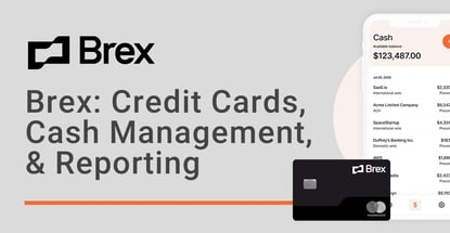 Brex Credit Cards Cash Management And Reporting