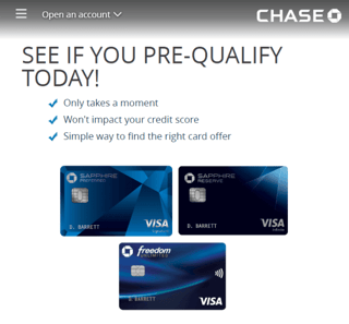 Chase's Prequalify Page