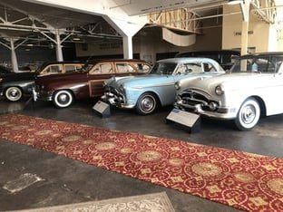 Packard Automobiles in the Showroom