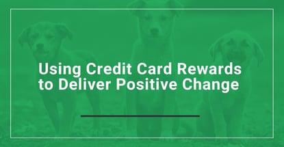 Using Credit Card Rewards To Deliver Positive Change