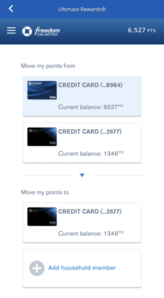 Combine Chase Points