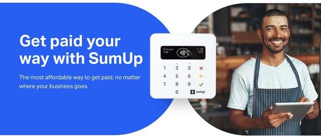 Screenshot of SumUp banner
