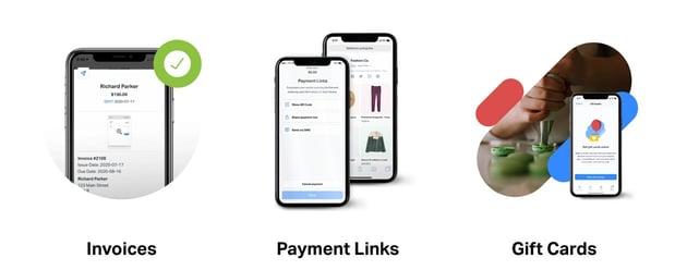 Screenshot of SumUp offerings