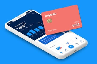 Graphic of Payactiv app and card