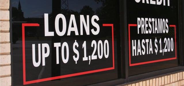 Loan Signage in a Window