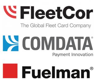 FLEETCOR, Comdata, and Fuelman Logos