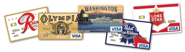 Graphic of O Bee Credit Union card options