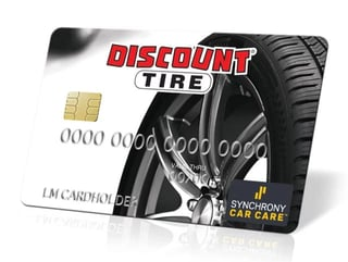 Photo of the Discount Tire credit card