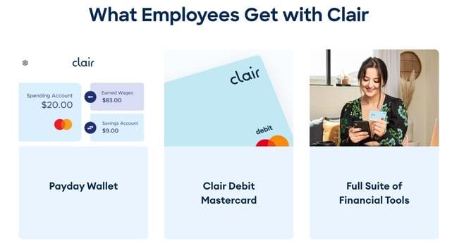 Screenshot from Clair website