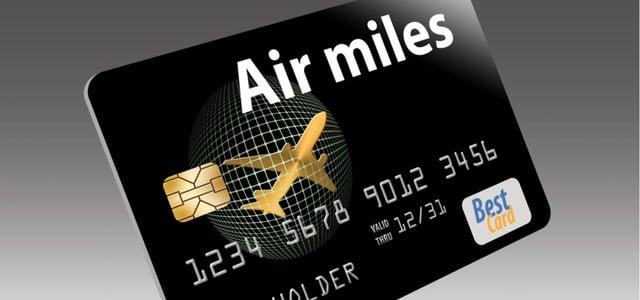 Stock photo of an air miles card.