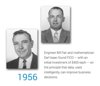 Photos of Bill Fair and Earl Isaac, founders of FICO.