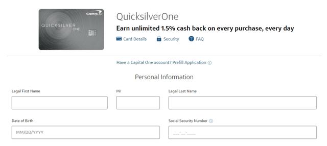 Screenshot of the QuicksilverOne application.