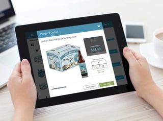 Photo of a Tablet Showing the Engage Product