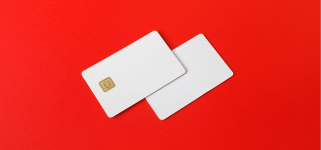 Photo of two credit cards.