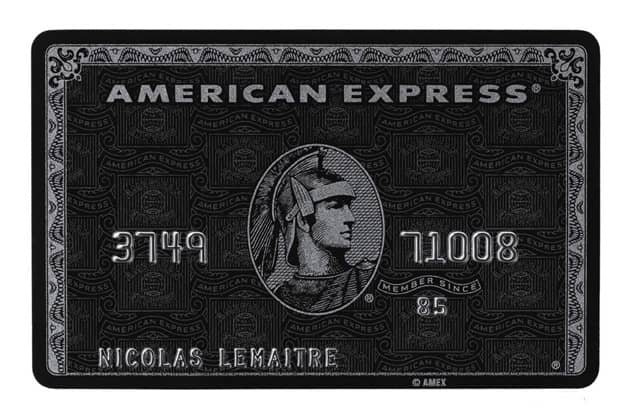 "American Express Centurion ""Black"" Card"