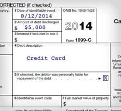 1099-C Tax Form