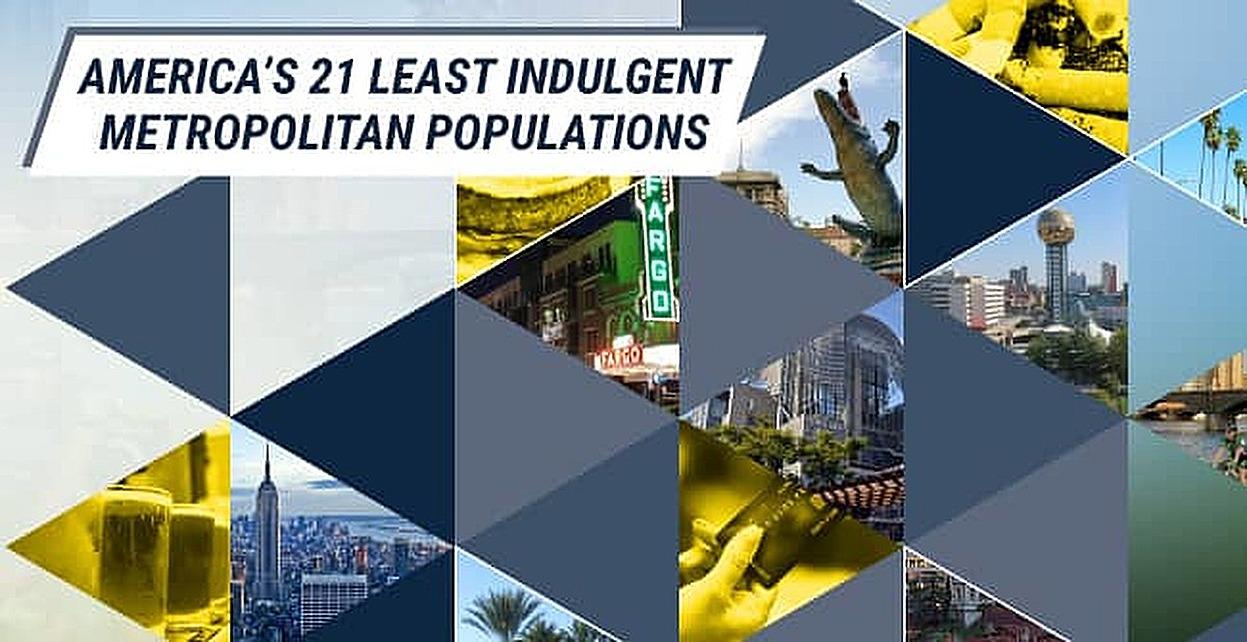 America's 21 Least Indulgent Metropolitan Populations