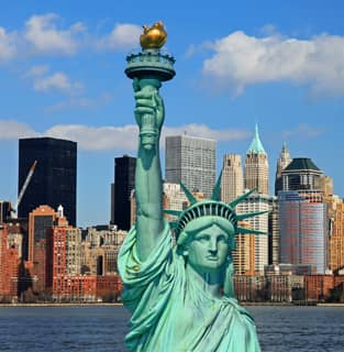 Photo of the Statue of Liberty.