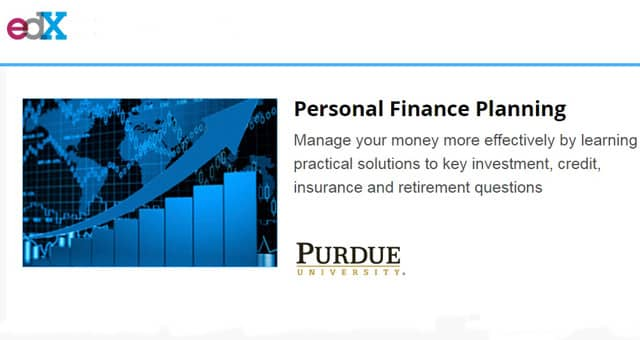 Screenshot of edX Personal Finance Planning webpage